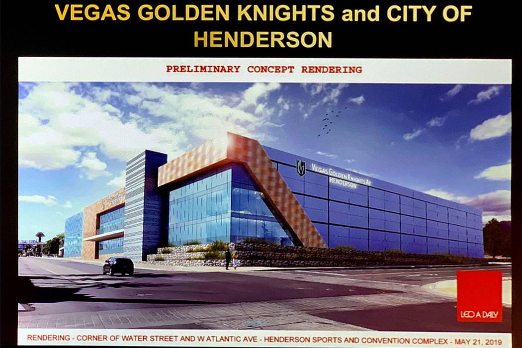 Henderson OKs Golden Knights community ice arena for