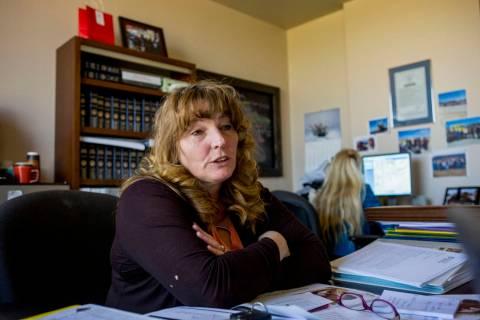 Clark County Commissioner Chairwoman Marilyn Kirkpatrick. (Elizabeth Brumley Las Vegas Review-J ...