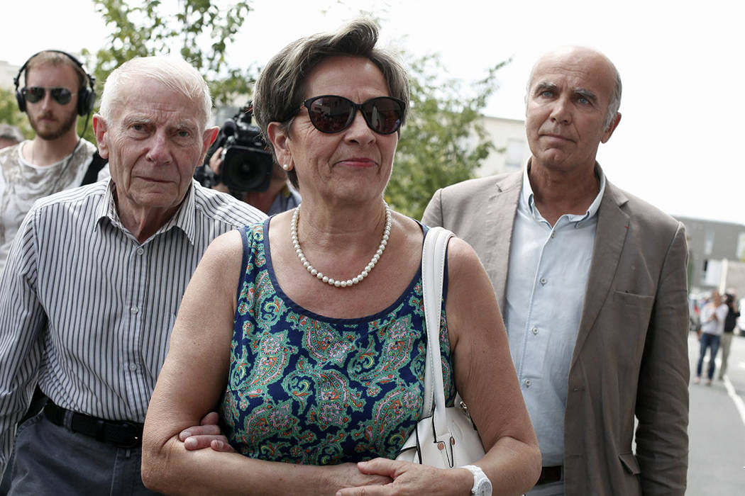 FILE - In this July 23, 2015 file photo, Viviane and Pierre Lambert, left, parents of Vincent L ...
