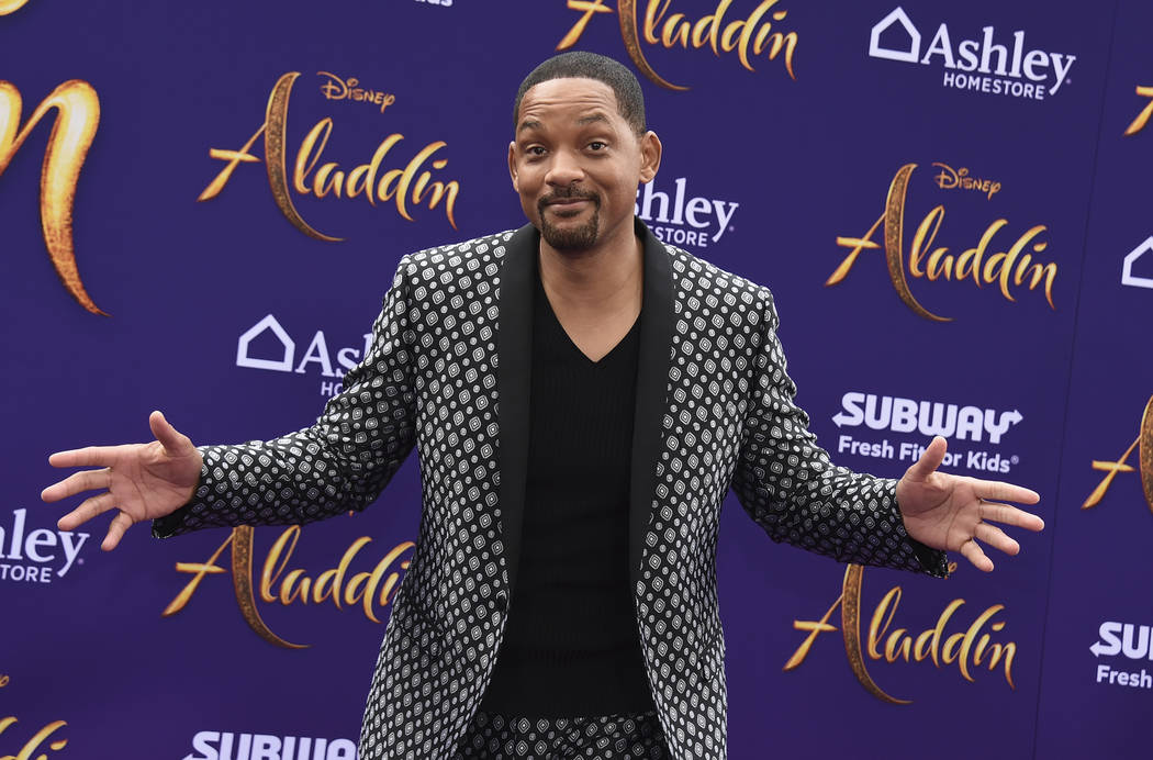 """Will Smith arrives at the premiere of """"Aladdin"""" on Tuesday, May 21, 2019, at the El Capitan The ..."""