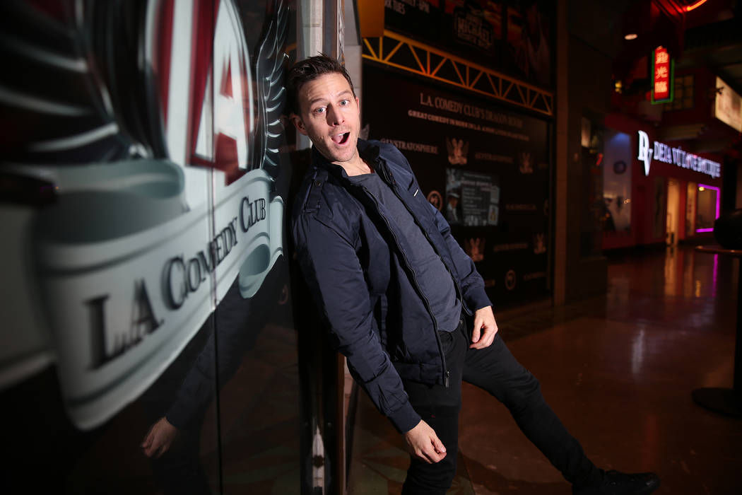 Comedia Kevan Moezzi, better known as K-von, is photographed at the L.A. Comedy Club inside the ...