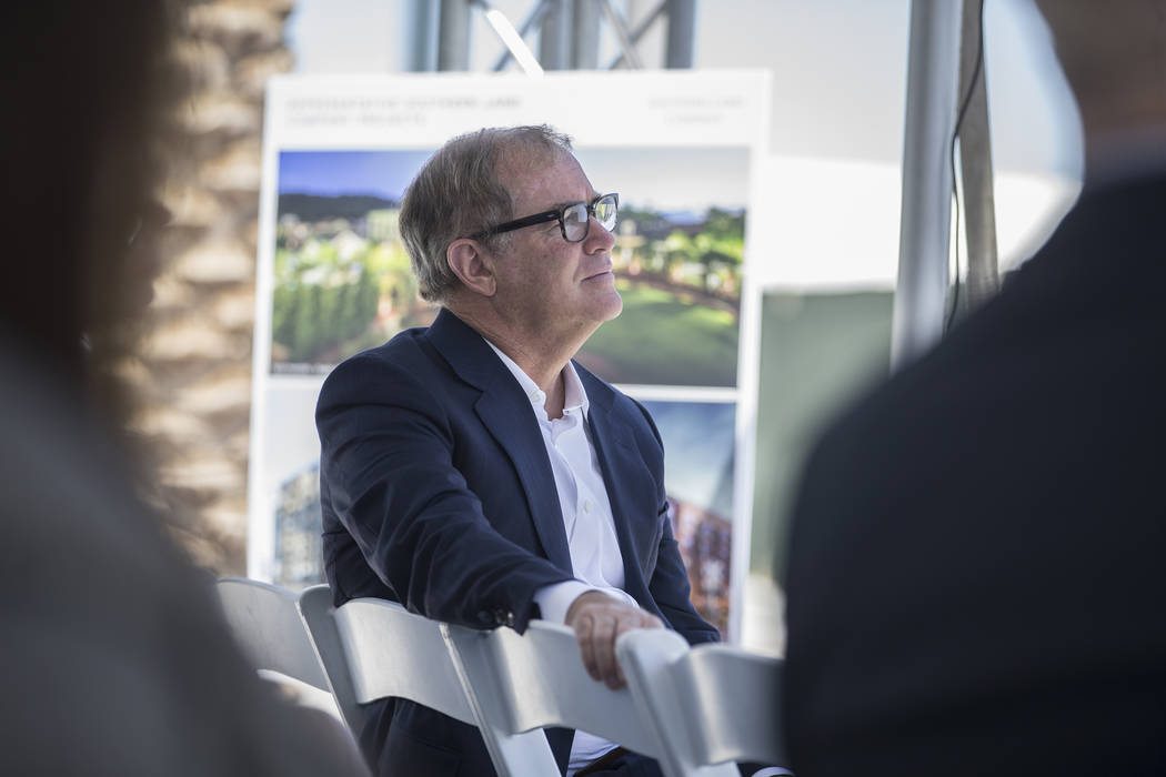 Tim Downey, CEO of Nashville, Tennessee-based Southern Land Company, listens to a speaker duri ...