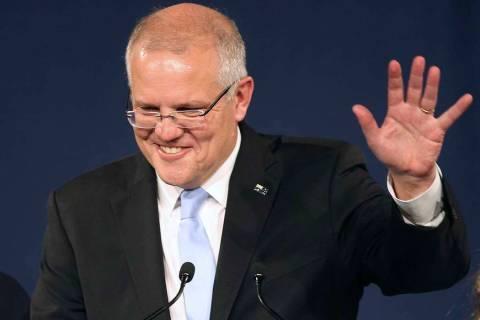 Australian Prime Minister Scott Morrison. (AP Photo/Rick Rycroft)