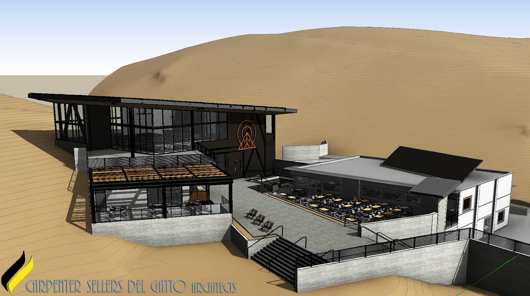A rendering of the new Hillside Lodge at Lee Canyon, set to be complete by December 2019. (cour ...
