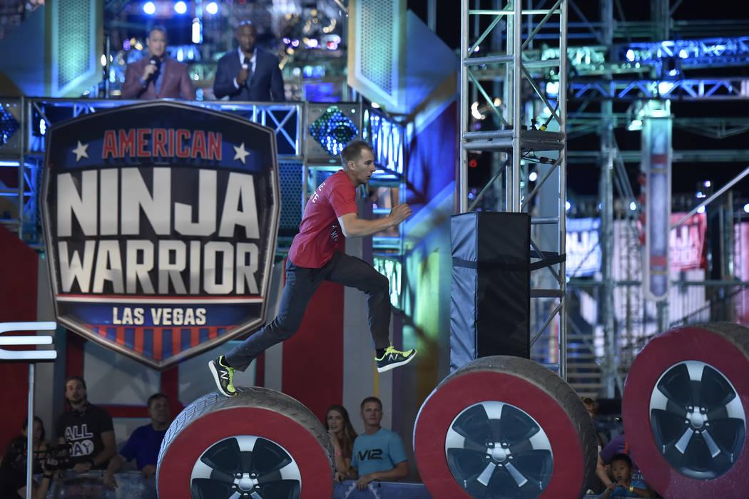 """AMERICAN NINJA WARRIOR -- """"Las Vegas Finals Night 2"""" Episode 1014 -- Pictured: Kenny ..."""