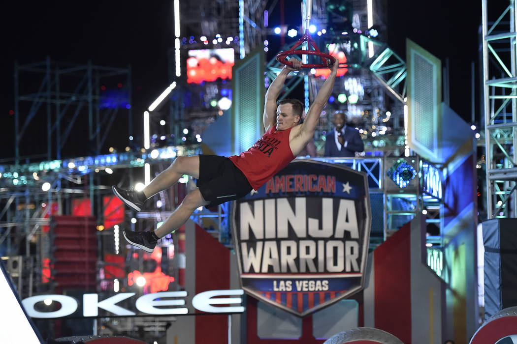 "AMERICAN NINJA WARRIOR -- ""Las Vegas Finals Night 2"" Episode 1014 -- Pictured: Mike M ..."