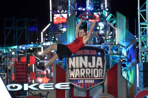 "AMERICAN NINJA WARRIOR -- ""Las Vegas Finals Night 2"" Episode 1014 -- Pictured: Mike M ..."