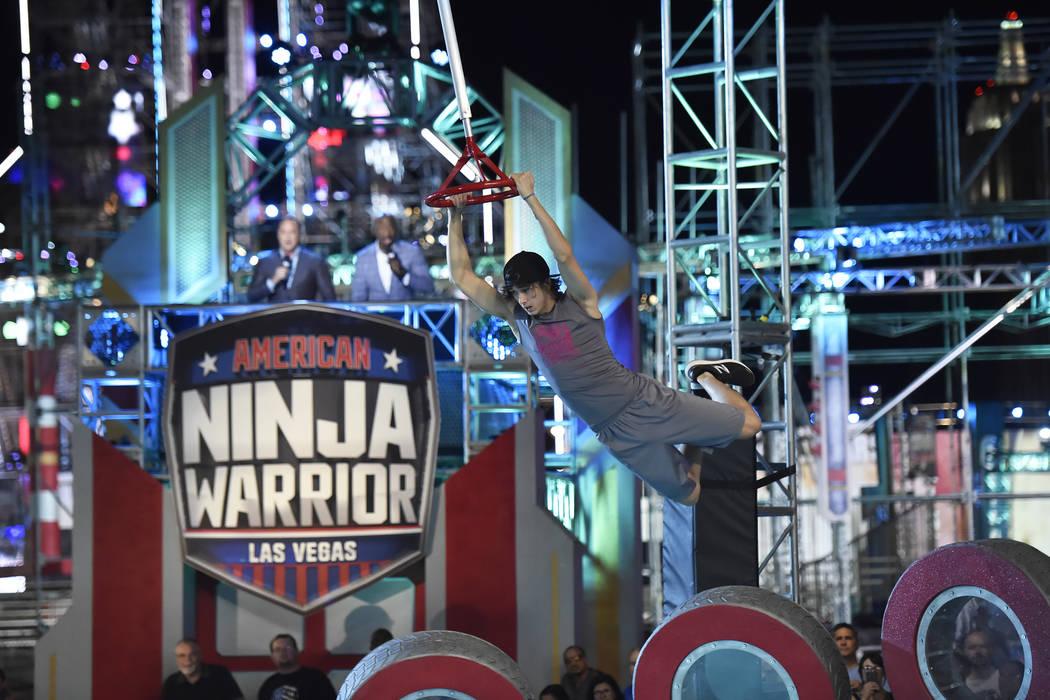 AMERICAN NINJA WARRIOR -- All Stars, Las Vegas -- Pictured: Mathis ?Kid? Owhadi -- (Photo By: D ...