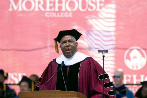 Billionaire technology investor and philanthropist Robert F. Smith announces he will provide gr ...