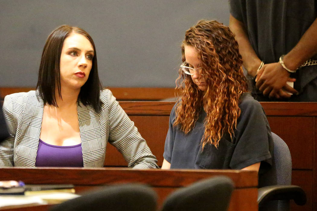 Amy Taylor, right, who along with former NFL player Cierre Wood, is charged with first-degree m ...
