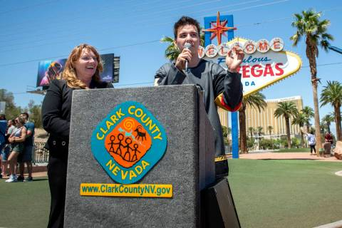 """Jeopardy!"" sensation James Holzhauer, right answers questions from the media after b ..."