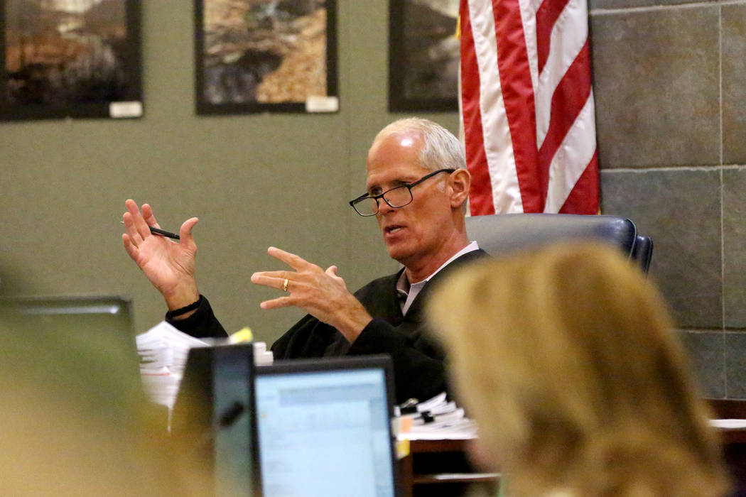 Judge Douglas Herndon discusses the death penalty during a hearing for Alonso Perez, the man fa ...
