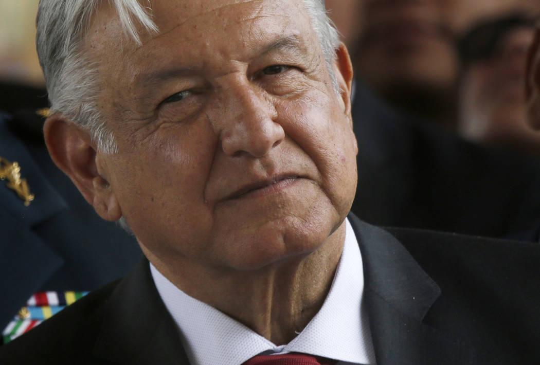 FILE - In this April 29, 2019 file photo, Mexican President Andrés Manuel López Obrad ...