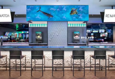 Caesars Entertainment Inc. debuted its new tech-heavy bar, Re:Match, at The Linq Hotel, earlier ...