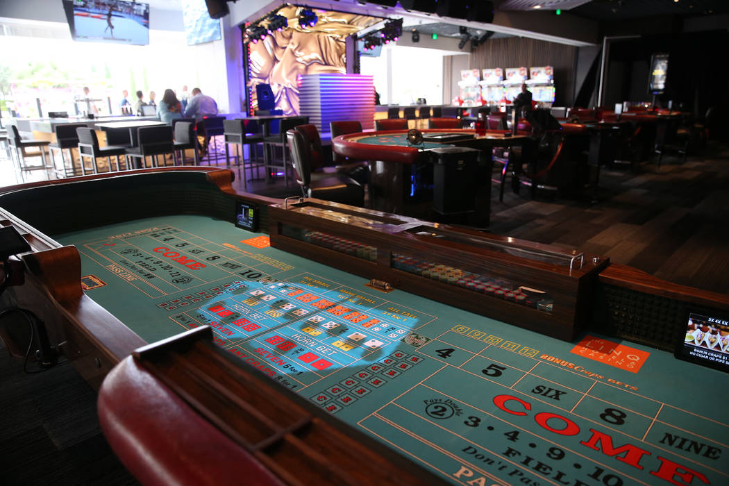 A gaming tables inside Rematch Bar at The Linq Hotel in Las Vegas, Wednesday, May 22, 2019. (Er ...