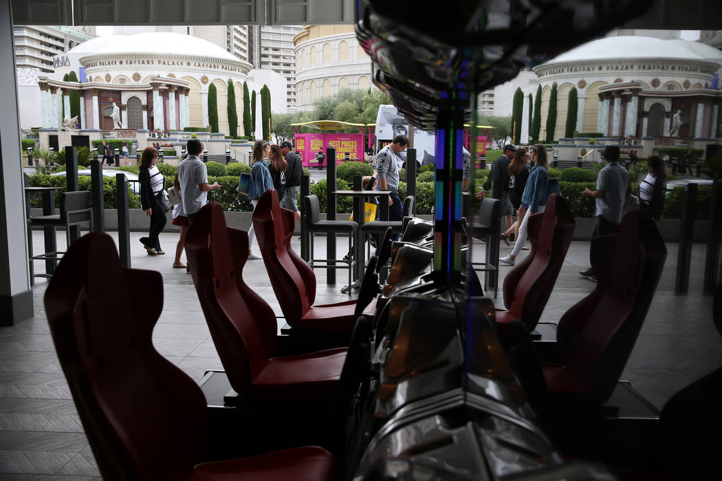 The view from Rematch Bar at The Linq Hotel in Las Vegas, Wednesday, May 22, 2019. (Erik Verduz ...