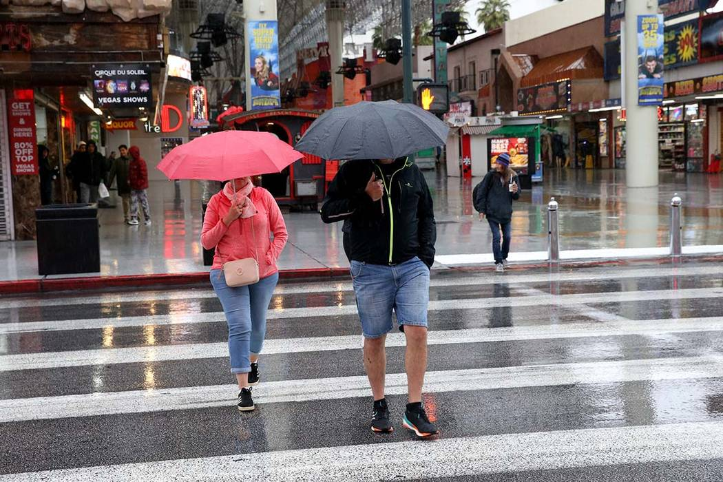 There's a 50% chance of rain on Wednesday in the Las Vegas Valley. (K.M. Cannon/Las Vegas Revie ...