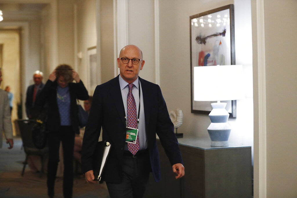 Tampa Bay Buccaneers owner and co-chairman Joel Glazer arrives to the NFL football owners meeti ...
