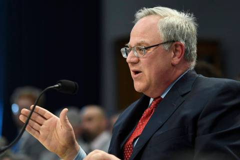 Interior Secretary David Bernhardt testifies before a House Appropriations subcommittee on Capi ...