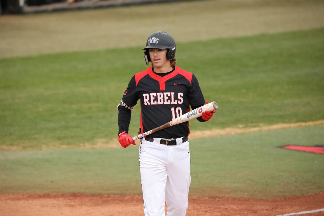 UNLV shortstop Bryson Stott appears in the 11-10 victory over Seattle on Feb. 16 at Wilson Stad ...