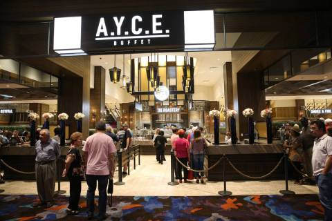 A.Y.C.E. Buffet inside the renovated Palms hotel-casino floor in Las Vegas, Thursday, May 17, 2 ...