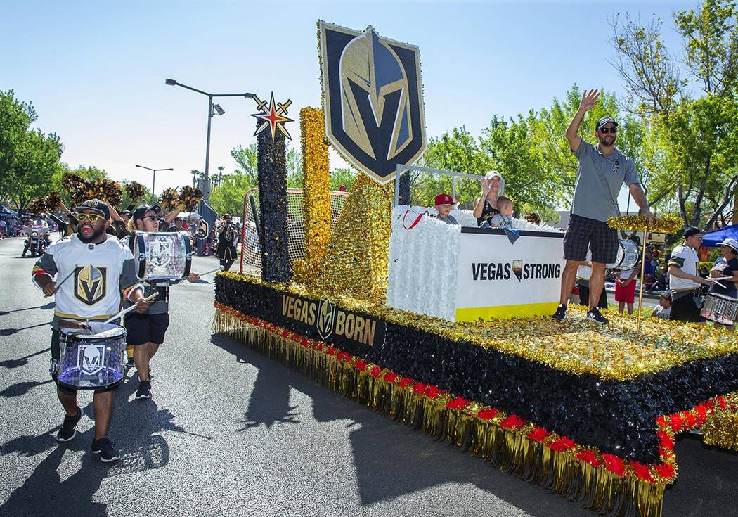 The Vegas Golden Knights-themed float sponsored by City National Bank debuted last year. (Summe ...