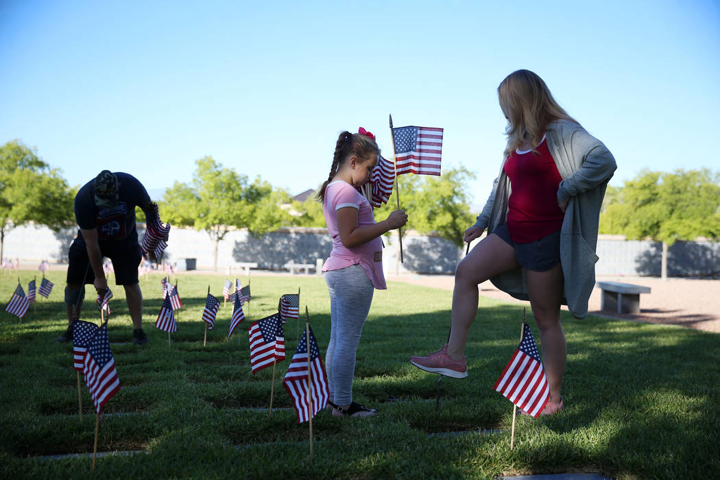 Leah Gonzales, right, with her granddaughter Kendra Thornton, 7, and husband Ernie Gonzales, U. ...