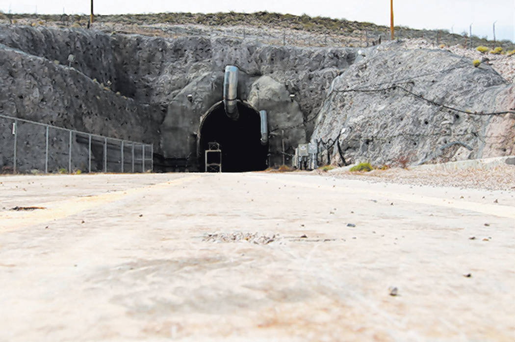 The north portal of the Yucca Mountain exploratory tunnel. (Sam Morris/Las Vegas Review-Journal ...