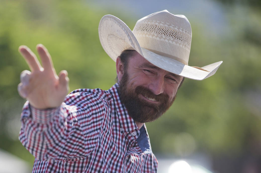 In this July 4, 2018 photo Utah County Commissioner Nathan Ivie waves during the Freedom Festiv ...