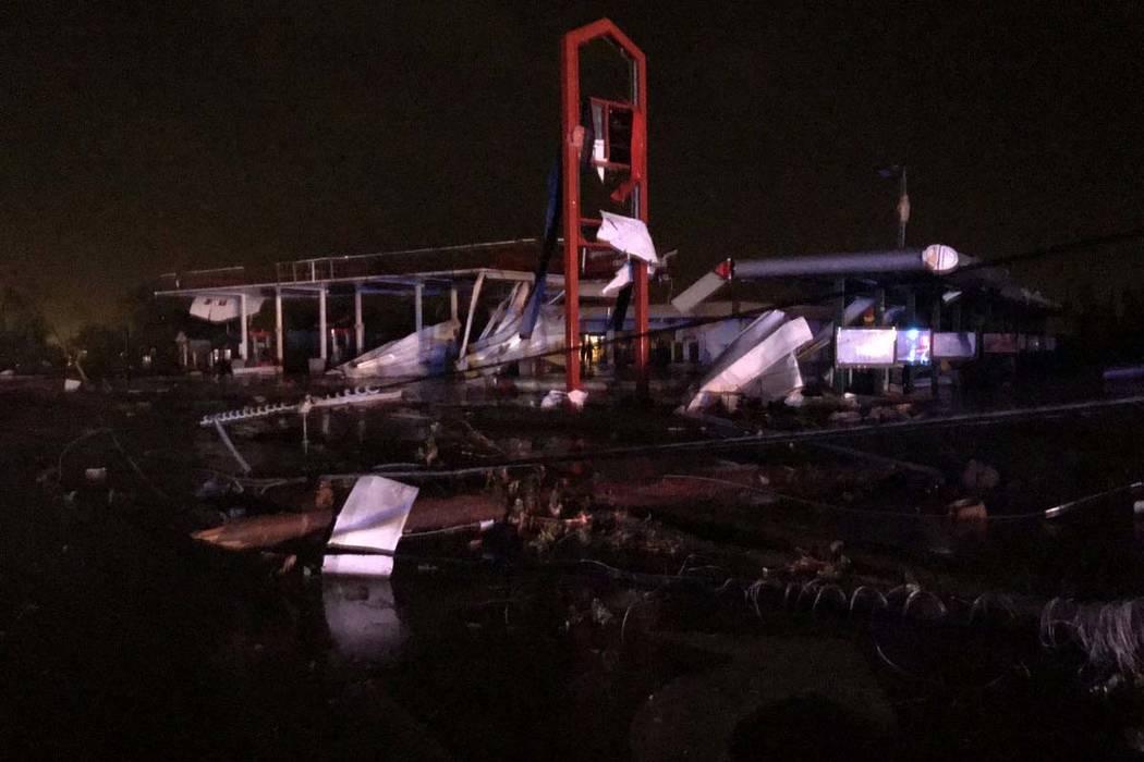 Damage is shown in Jefferson City, Missouri. (Missouri Public Safety)