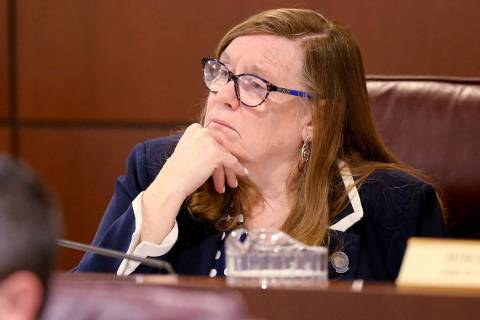 Assemblywoman Maggie Carlton, D-Las Vegas, is seen in the Legislative Building in Carson City M ...