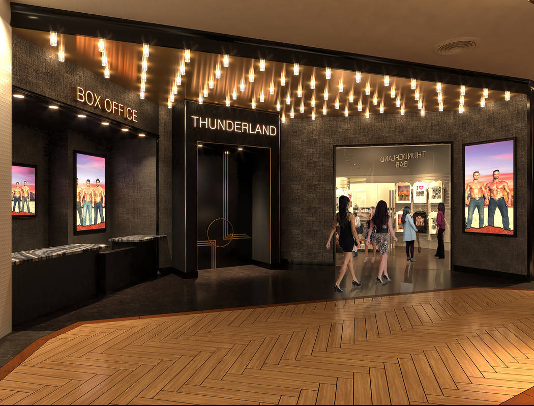 """A rendering of the entrance to Thunderland at Excalibur, the new home of """"Thunder From Down Und ..."""