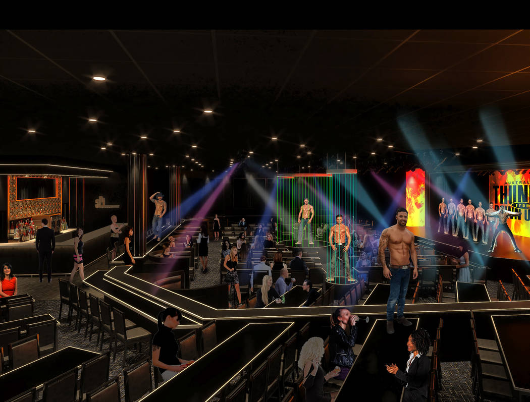 "A rendering of Thunderland at Excalibur, the new home of ""Thunder From Down Under,"" Hans Klok a ..."