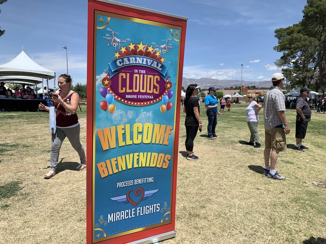 Carnival in the Clouds was held on a clear day at Craig Ranch Regional Park. (Mia Sims, Las Veg ...