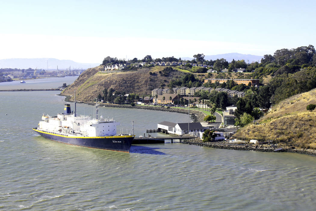 In this 2013 photo provided by the California State University Maritime Academy shows the Golde ...