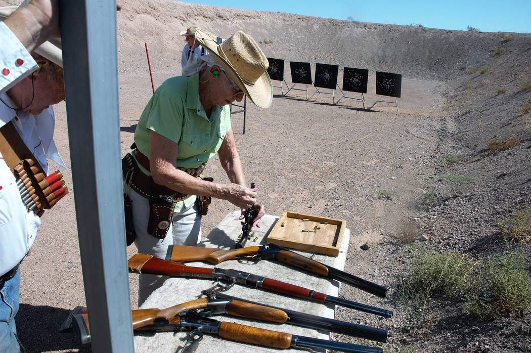 Safety is paramount on the Cowboy Action Shooting range. Competitors ensure that each shooter c ...