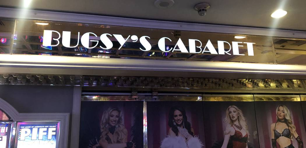One of the names is shown at the theater at Flamingo Las Vegas. (John Katsilometes/Las Vegas Re ...