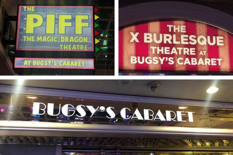 The many names of Bugsy's Cabaret at Flamingo Las Vegas. (John Katsilometes/Las Vegas Review-Jo ...