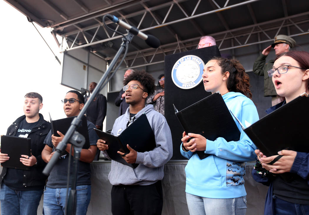 The Leavitt Middle School Choir performs at the Southern Nevada Law Enforcement Officers memori ...