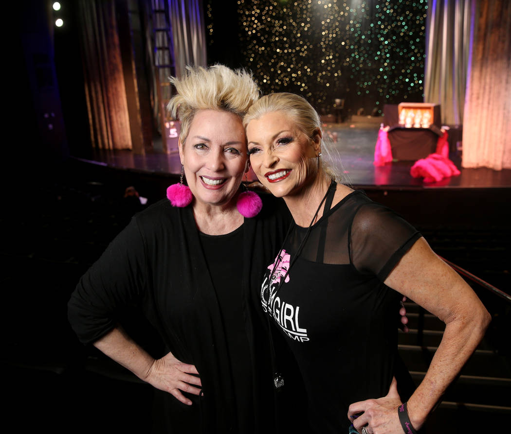 Co-creators Mistinguett, left, and Stacy Law-Blind during a preview of Showgirl Bootcamp at Sax ...