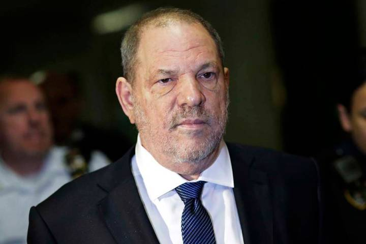 In a Oct. 11, 2018, file photo, Harvey Weinstein enters State Supreme Court in New York. A tent ...