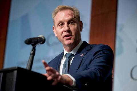 In a March 20, 2019, file photo, Acting Defense Secretary Patrick Shanahan speaks at the Center ...