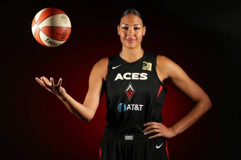 Las Vegas Aces' Liz Cambage at the Mandalay Bay Events Center in Las Vegas, Thursday, May 23, 2 ...