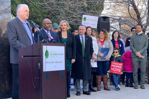 Gov. Steve Sisolak announced Tuesday, March 12, 2019, that Nevada will join the U.S. Climate Al ...