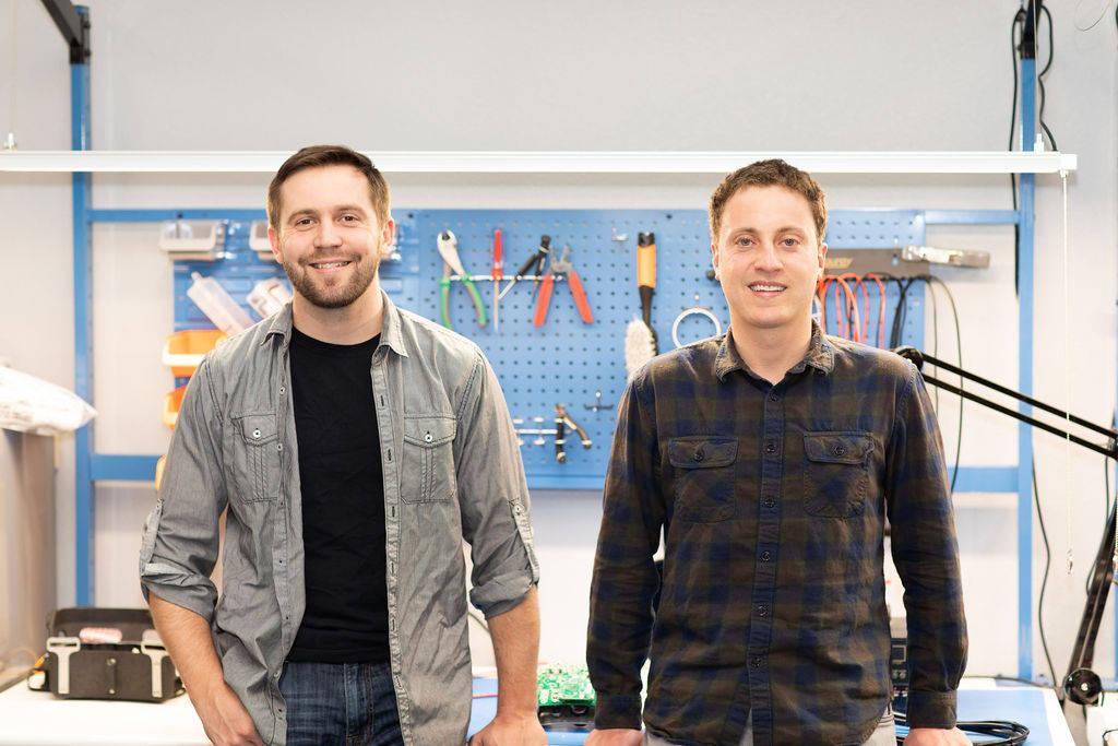 Breadware co-founders Daniel Price and Danny deLaveaga together at their office in Reno. (Courtesy)