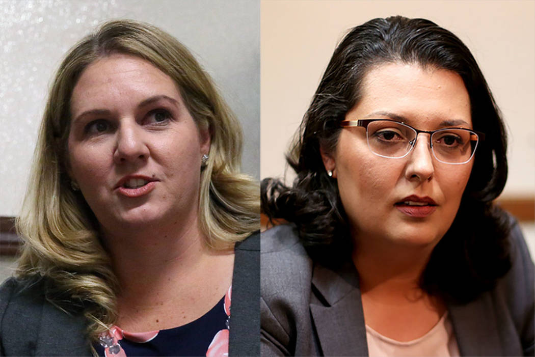 Melissa Clary, left, and Olivia Diaz (Las Vegas Review-Journal)