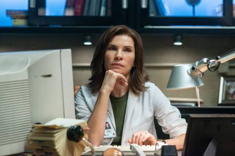 Julianna Margulies as Dr. Nancy Jaax in the National Geographic scripted miniseries The Hot Zon ...