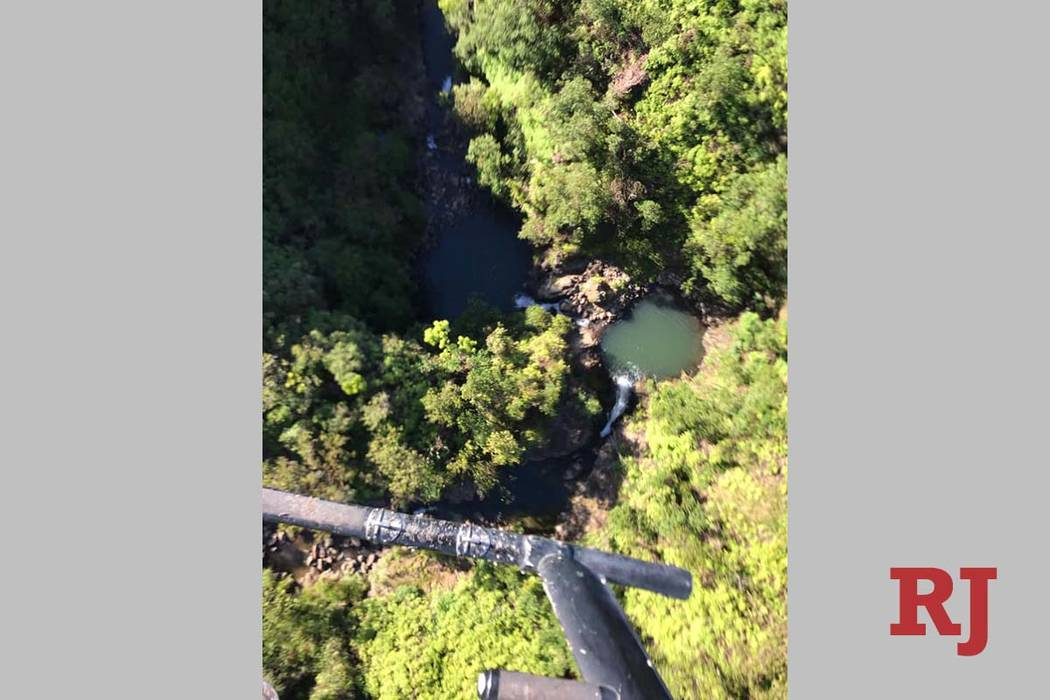 The area where missing hiker Amanda Eller was found Friday, May 24, 2019, in Maui, more than tw ...