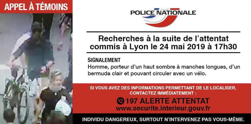 In this May 24, 2019 screen grab taken from the French police website - an image and descriptio ...