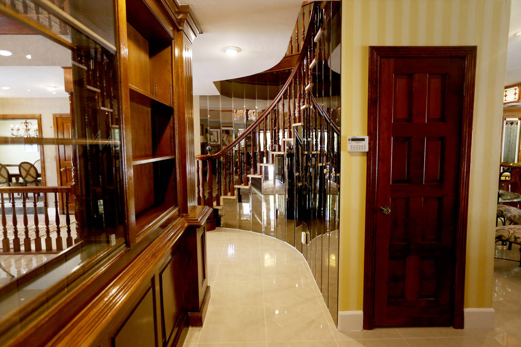 The hallway to the kitchen at the former house of Jerry Lewis in Las Vegas, Wednesday, May 15, ...